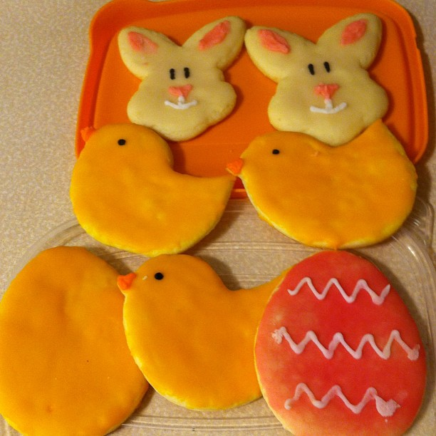 Easter cookies made by my daughter