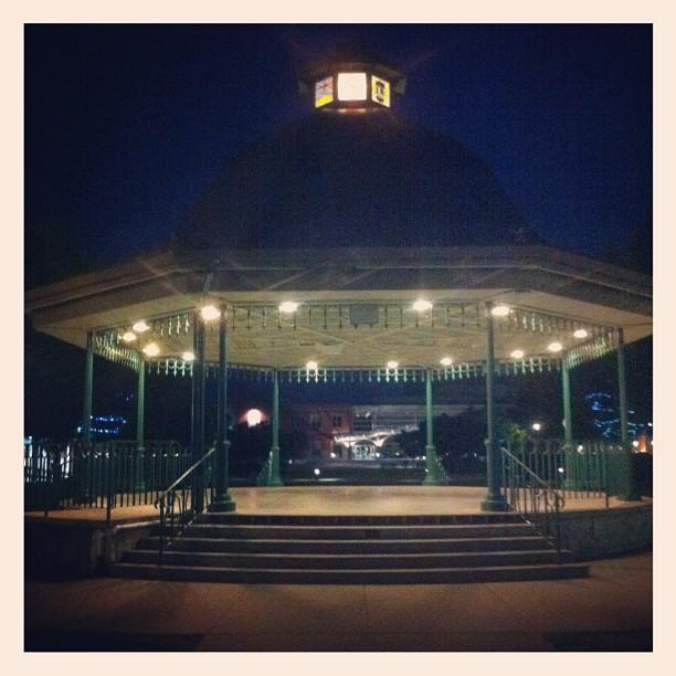 Maple Ridge downtown park at night