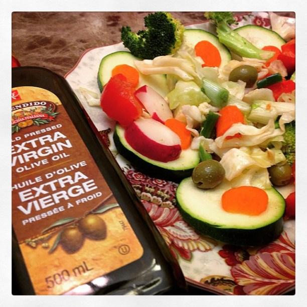 Lucian's veggie salad recipe