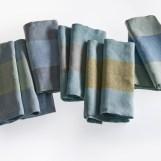 Tischwäscheserie - reines Leinen, ca. 0,45 x 1,50 m, Bindungsvariationen