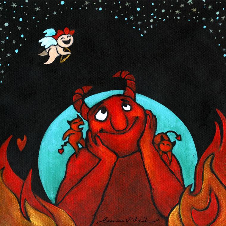 ilustración del libro ROJO de Liliana Bodoc
