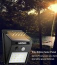 LEDOWP Solar Lights, 20 LED Solar Motion Sensor Outdoor Lighting with 3 Intelligent Modes for Garden Patio Pathway Driveway Fencing Deck Yard Porch Stairs, Easy to Install ( 2 Pack )