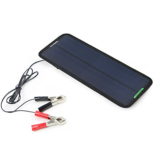 ALLPOWERS 18V 7.5W Portable Solar Car Boat Power Sunpower Solar Panel Battery Charger Maintainer for Automobile Motorcycle Tractor Boat Batteries