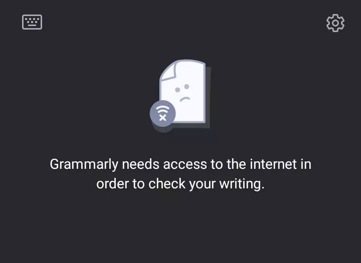 grammarly needs internet connection