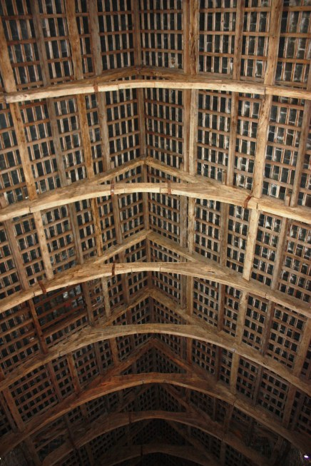 Wooden vaulting, the exterior would have been thatch.