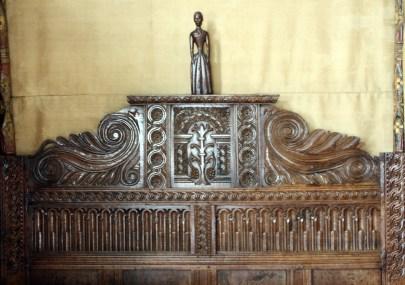 carved headboard