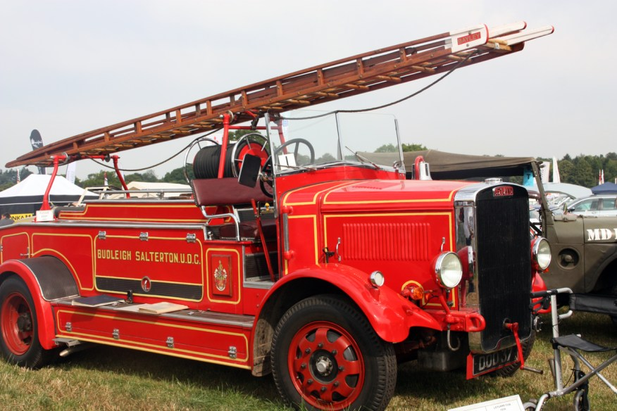 An old local fire engine