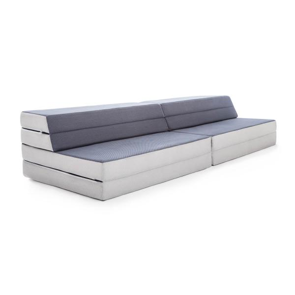lucid 4 inch folding mattress and sofa with removable indoor outdoor fabric cover full size usa made bed king twin xl