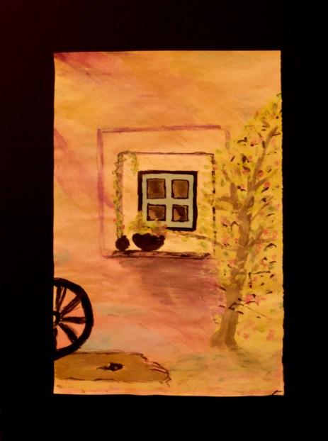 Spring window watercolor