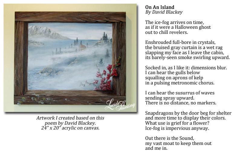 My artwork based on a Poem by David Blackey