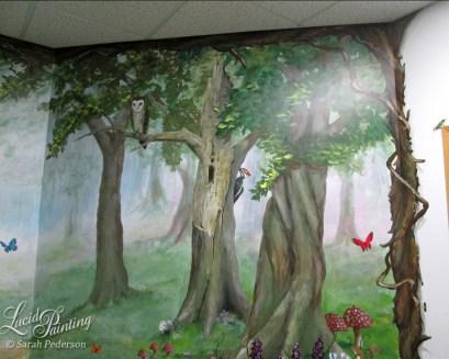 Detail of one wall at Sedlock Dental.