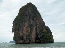 Railay Beach Rock Formation and Cliff Krabi, Thailand