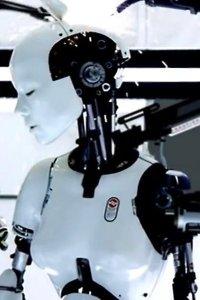 Bjork as a sexy robot being assembled.