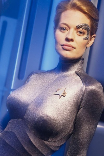 Jeri Ryan as the sleek and sexy Seven of Nine.