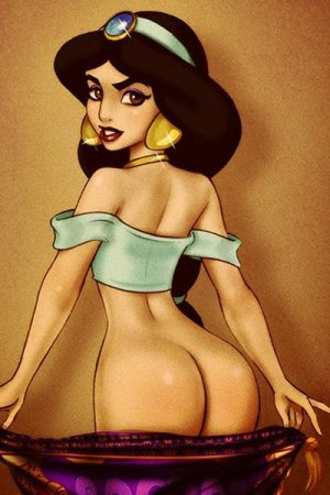 Princess Jasmine's internet breaking booty.