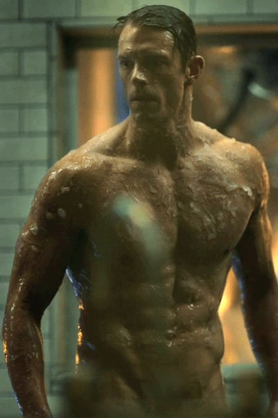 Joel Kinnaman as Takeshi Kovacs' new body.