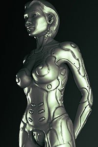 A shapely female form rendered in cold, beautifully formed steel.