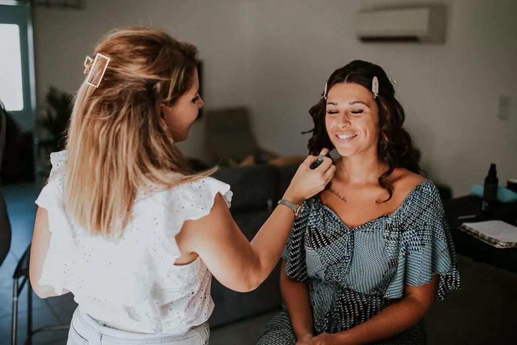 backstage maquillage beauté de la mariée à Cherbourg en Normandie