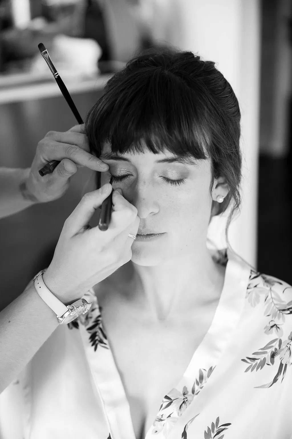 maquillage mariée noir et blanc à cherbourg en normandie