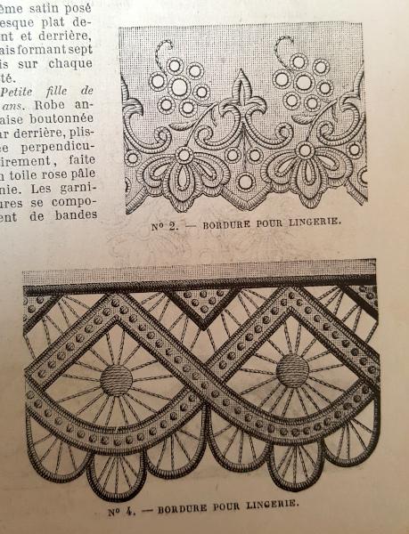 Bordure pour lingerie, La Mode Illustrée, 6 juin 1880