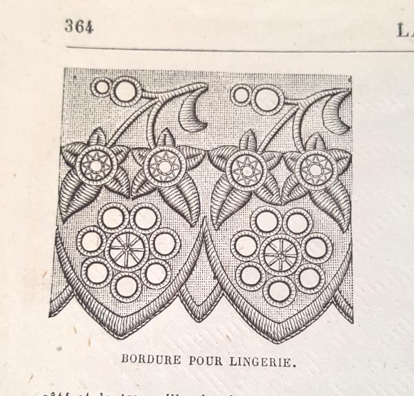 Bordure pour lingerie, La Mode Illustrée, 14 novembre 1880