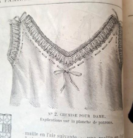 Chemise pour dame, La Mode Illustrée, 22 février 1880