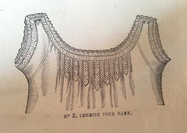 Chemise pour dame, La Mode Illustrée, 29 août 1880