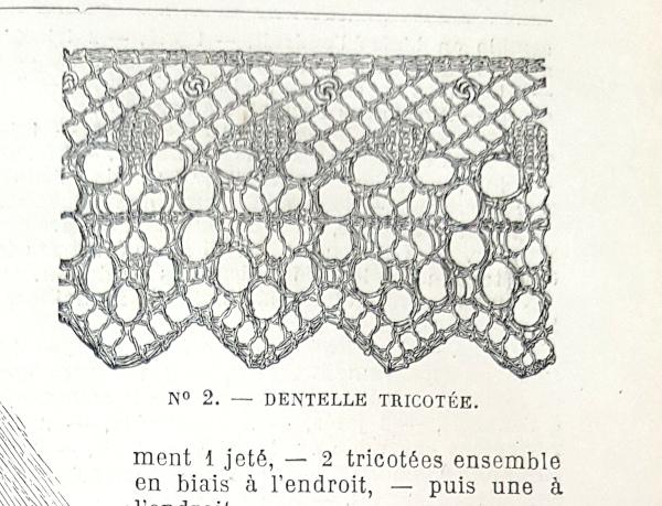 Dentelle tricotée, La Mode Illustrée, 16 mai 1880