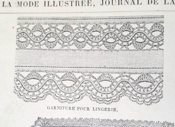 Garniture pour lingerie, La Mode Illustrée, 2 mai 1880