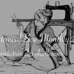 Image ancienne d'une femme cousant - Historical Sew Monthly 2021 Carnet de recherches de Lucie Choupaut