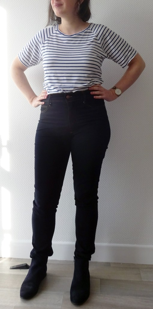 ginger jeans en jean stretch bleu foncé. Closet Core Patterns