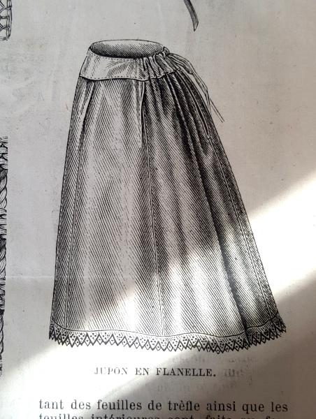 Jupon en flanelle, La Mode Illustrée, 1er février 1880
