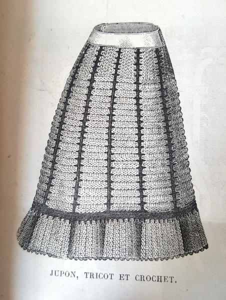Jupon en tricot, La Mode Illustrée, 1er février 1880
