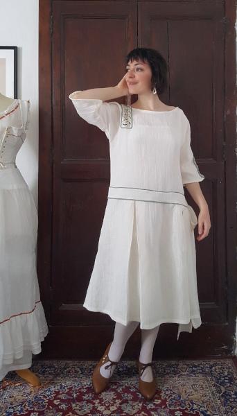 devant de la robe d'été 1924
