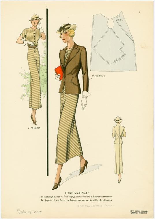 ensemble de costume de 1935