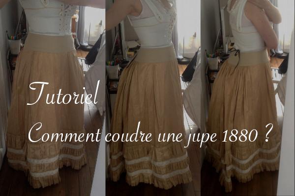 Tutoriel pour coudre une jupe 1880 - Carnet de recherches de Lucie Choupaut