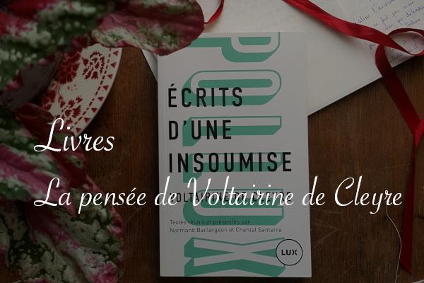 Livre Voltairine de Cleyre revue sur Carnet de recherches de Lucie Choupaut