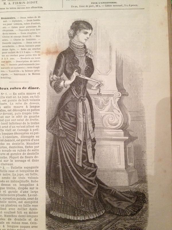 robe de dîner 1880 La Mode Illustrée