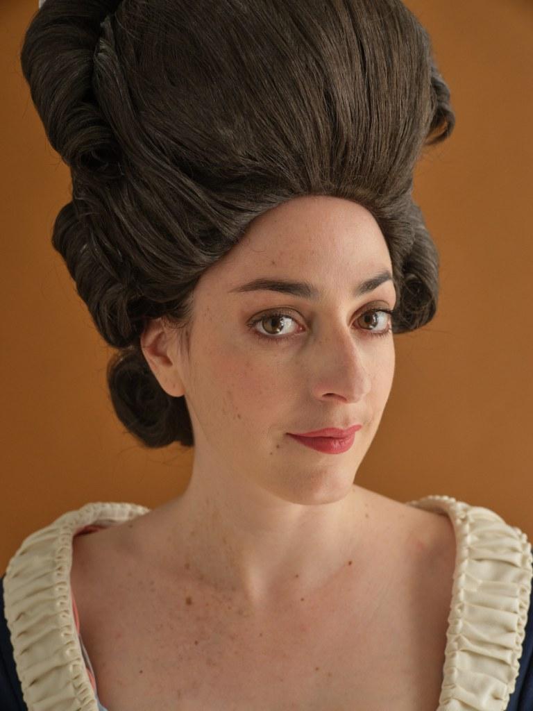 portrait robe à la polonaise 1770