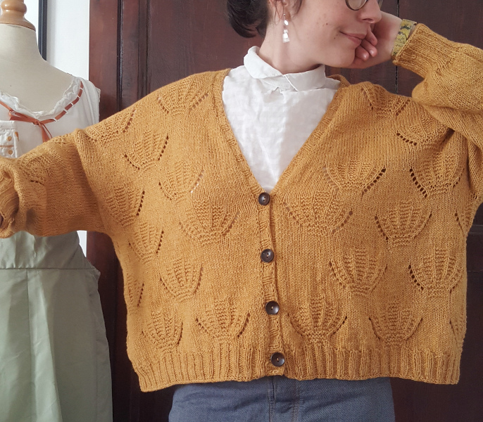 gros plan gilet coquille en taille L