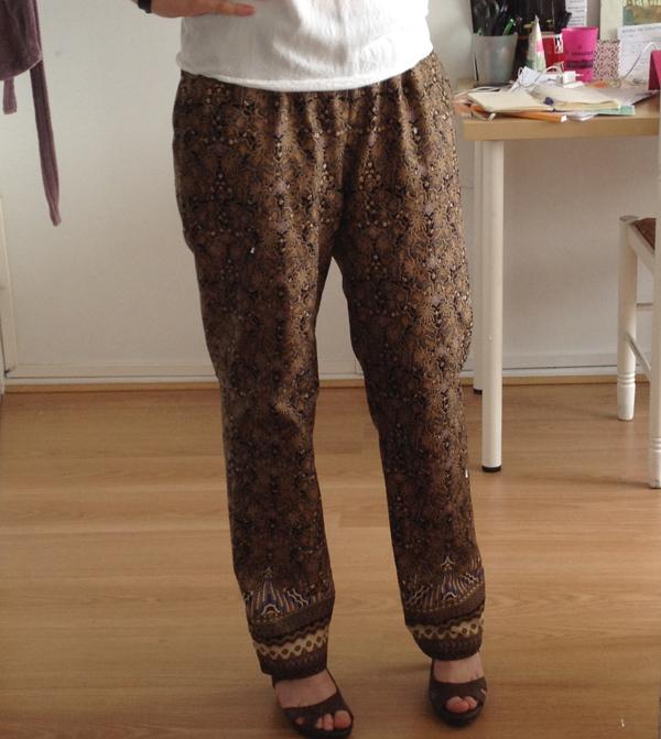 pantalon été coton imprimé