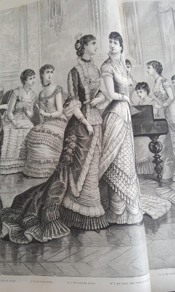 toilette de bal en faye et tulle, La Mode Illustrée, 4 janvier 1880