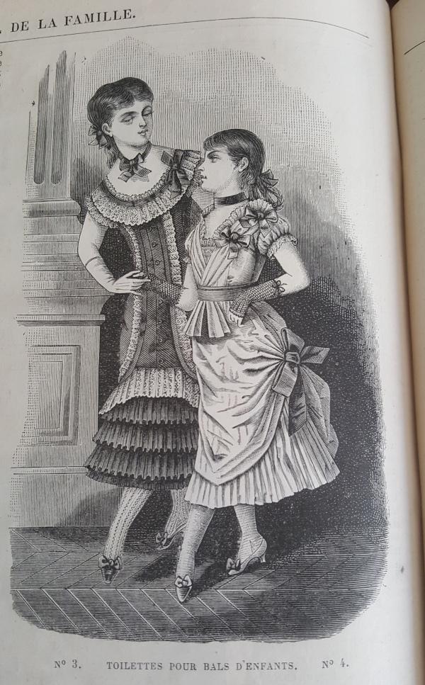 Toilettes de bal pour enfants, La Mode Illustrée, 5 décembre 1880