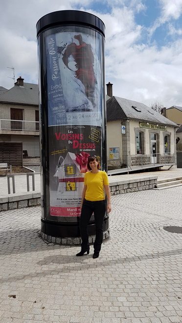 Art Rugby : L'affichage public de l'exposition passion Ovalie de Lucie LLONG à Ussel