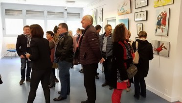 Art rugby : le vernissage de l'exposition Passion Ovalie à Ussel