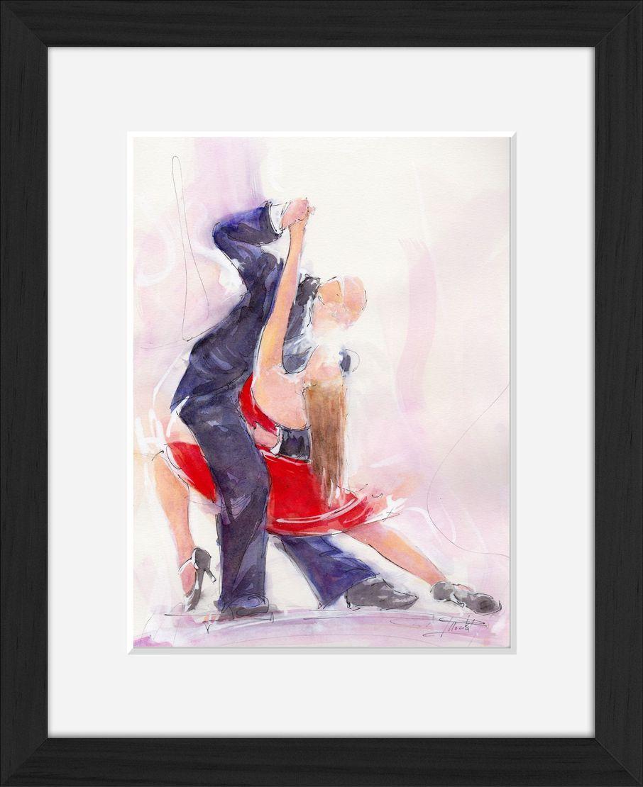 art peinture aquarelle danse tango : un tango sensuel dansé par un couple