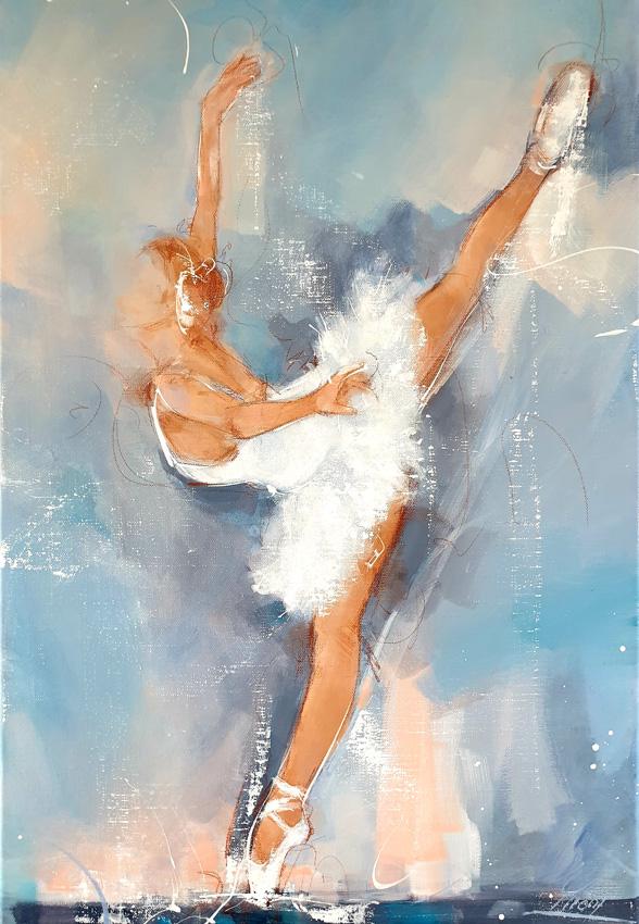 Art | peinture Ballet | Danse | danseuse étoile sur scène