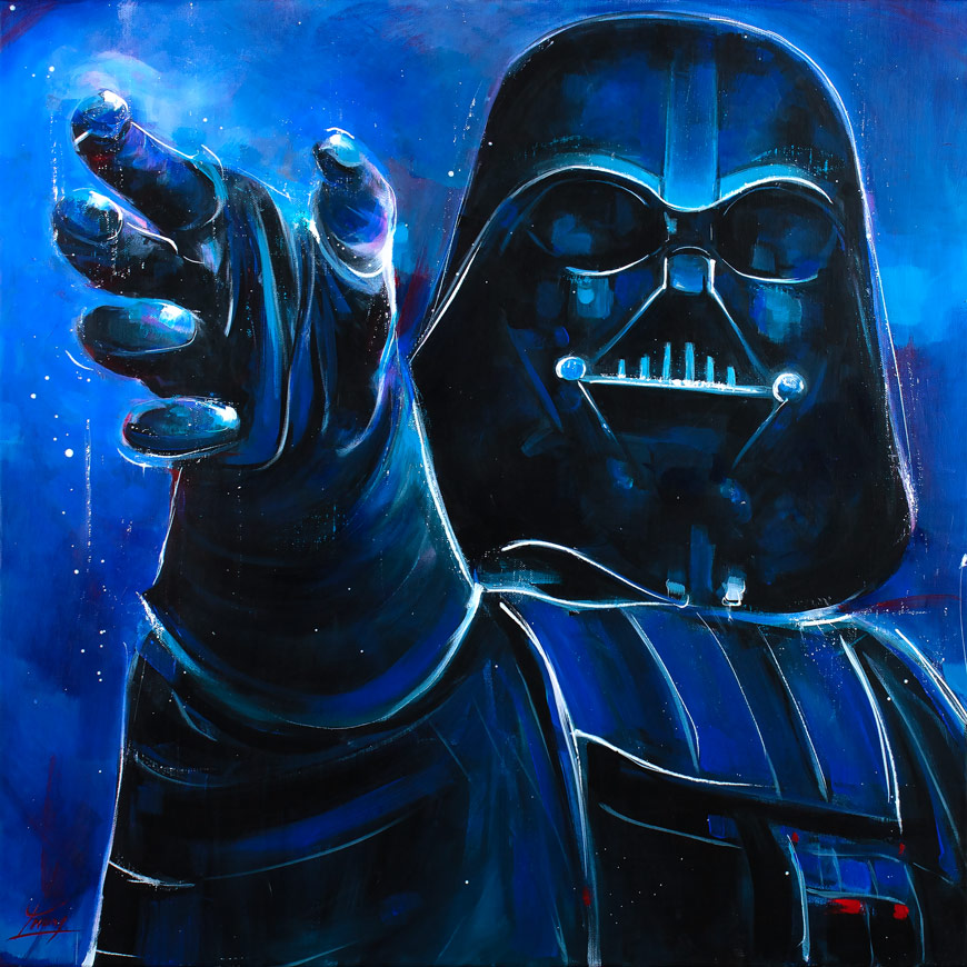 Starwars painting : Dark Vador by Lucie LLONG, artist of movement