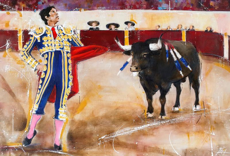 Art : peinture sur toile | tauromachie | Sébastien Castella dans les arènes d'Arles