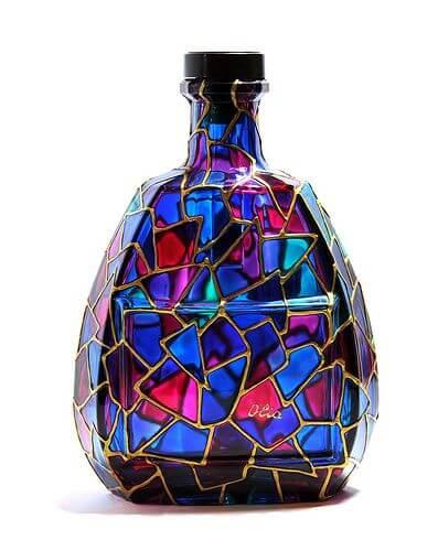 como pintar botellas de vidrio